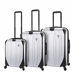 Mia Toro 意大利 Compaz 硬边 3 件套行李箱,白色