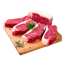 抄作业、京东PLUS会员:京觅 澳洲谷饲西冷牛排1kg(5片装)(赠牛肉馅货肥牛片,附组合建议) *3件