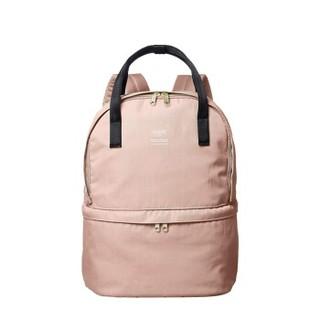 anello 阿耐洛 乐天潮流时尚斜纹肌理双肩背包书包C1841  粉色
