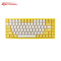 KEYCOOL 凯酷 蓝牙机械键盘热升华PBT键帽CHERRY轴 (黑轴、奶酪黄、无线、84键)