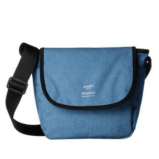 anello 阿耐洛 高密度木纹涤纶迷你单肩包斜挎包N0661 天蓝色