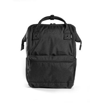 anello 阿耐洛 自营旗舰店 高密度涤纶混色旅行素色麻布双肩背包B2261黑色