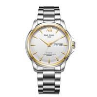天王表(TIANWANG)手表 征服者系列钢带机械表商务男士手表30周年庆纪念款专柜同款钟表金色GS51026T.DD.S.S