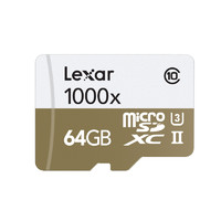 Lexar 雷克沙 1000x microSDXC UHS-II U3 TF存储卡 64GB