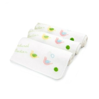 PurCotton 全棉时代 婴儿纱布口水巾 32*32cm 3条/袋