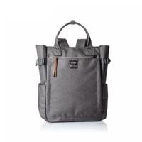 anello 阿耐洛 乐天潮流时尚混色多袋手提双肩两用包C1225灰色