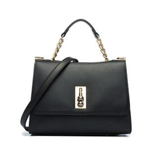 MONTAGUT 梦特娇 女士包包百搭两用牛皮单肩斜跨包时尚手提包R7512070011黑色