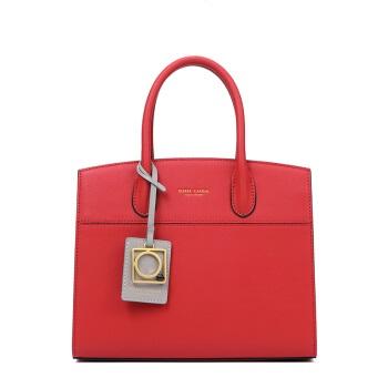 pierre cardin 皮尔·卡丹 女包红色结婚新娘手提包时尚牛皮单肩斜挎婚包 J7A223-080201C红色