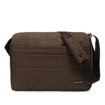 NATIONAL GEOGRAPHIC 国家地理 单肩包 男女休闲运动斜挎包iPad包旅行包背包 -N00715.11卡其色
