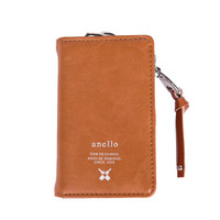 日本anello 日本潮流时尚PU便携收纳包钥匙包零钱包D0693 浅褐色
