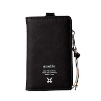 日本anello 日本潮流时尚PU便携收纳包钥匙包零钱包D0693 黑色