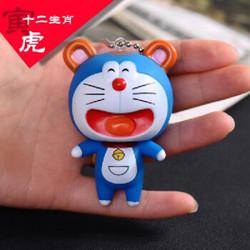 公仔多啦A梦情侣钥匙扣挂件相机器猫可爱蓝胖子