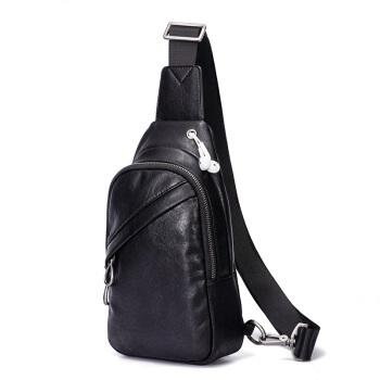KANGAROO 袋鼠 胸包男多功能男士胸包时尚休闲单肩包潮流旅行斜背包 KMBD0619022 黑色