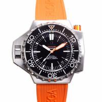 OMEGA 欧米茄 海马 PLOPROF 男士机械手表 55 *48mm 黑色 橙色 硅胶