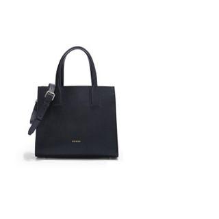 HONGU 红谷 女包时尚牛皮单肩手提包斜挎包手拎包 H5141342深蓝