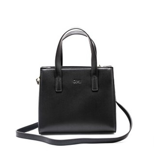 OMI 欧米 女包单肩斜跨都市简约小方包手提包 1171U10121H 黑色