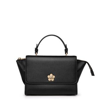 Helena Rubinstein 赫莲娜 女士牛皮手提包 时尚休闲小包包个性百搭单肩斜挎包 H2-0016881A1D  黑色