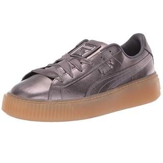中亚Prime会员、限尺码 : PUMA 彪马 Basket Platform Patent 女士运动鞋