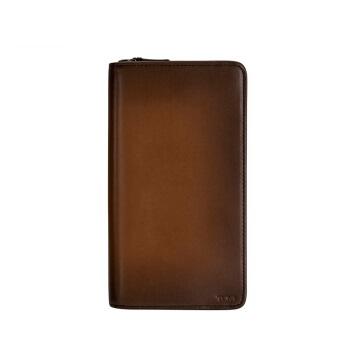 TUMI 途明 NASSAU SLG系列男士商务旅行高端时尚皮质钱包0126177WHYB 棕色