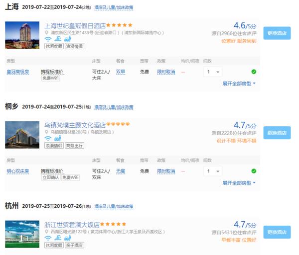 全国多地-上海+乌镇+杭州5天4晚自由行(含往返机票+五星酒店住宿)