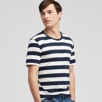 UNIQLO 优衣库 415968 SUPIMA COTTON条纹T恤