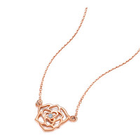 Zocai 佐卡伊珠宝  捧花系列 C00071 钻石项链项坠 0.7分 无色钻石