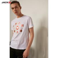 JACK JONES 杰克琼斯 漫威联名金箔印花男款T恤 (白色、L)