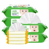 可爱多 婴儿手口屁湿纸巾 组合装 80抽*5 10抽*4