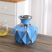 Hoatai Ceramic 华达泰陶瓷 花瓶摆件 矮款蓝