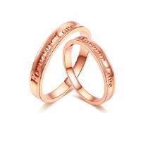 鸣钻国际 承诺 钻石对戒 玫瑰18k金钻戒 结婚求婚戒指 情侣款