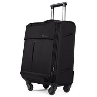 VIHUS 威浩 商务拉杆箱行李箱旅行箱男女万向轮密码箱布箱 8786B-28英寸黑色