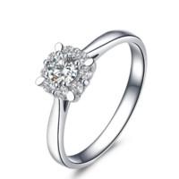 佐卡伊 触电花火 钻戒结婚求婚戒指群镶钻石女戒白18K金 花火系列  11#  W80152T