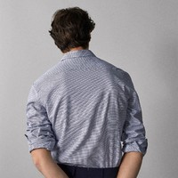 Massimo Dutti 00156056400 男士休闲翻领衬衫