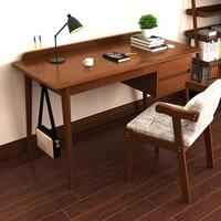 物槿 北欧实木书桌 1m 胡桃色