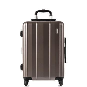 舒提啦 抗摔旅行箱铝框拉杆箱20英寸男女静音万向轮登机箱大容量行李箱纯pc硬箱子 冷峻灰