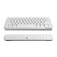 GANSS 高斯 ALT61 便携式机械键盘吃鸡键盘 61键 白色无光红轴