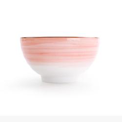 当当优品  星空系列 手绘陶瓷碗 粉色 4.5寸 2只