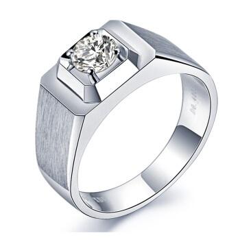 喜钻白18K钻石男戒结婚钻石戒指 21号