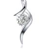 鸣钻国际 ZSDZ002 钻石项链 3分 无色钻石