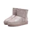 Qin&beale 千佰莉 女简约保暖舒适平底圆头雪地靴  100M7538  脏粉 37