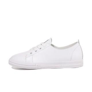LAIKAJINDUN 莱卡金顿 韩版时尚女士平底低系带潮流休闲鞋 6642 白色(系带) 39