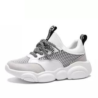 Haut Ton 皓顿 休闲小白鞋女潮流时尚系带运动板NXYD017 白色 39