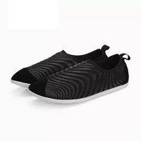 InteRight 休闲鞋 女士舒适平底 防泼水 排水排汗 便鞋 登山鞋 黑色 37