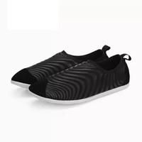 InteRight 休闲鞋 女士舒适平底 防泼水 排水排汗 便鞋 登山鞋 黑色 36