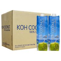 KOH COCONUT 酷椰屿 100%纯椰子水 1L*12瓶