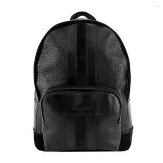COACH 蔻驰 奢侈品 男士黑色皮革双肩背包 F49334 QB/BK