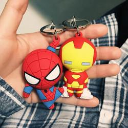蜘蛛侠钥匙扣钢铁侠汽车钥匙链圈挂饰
