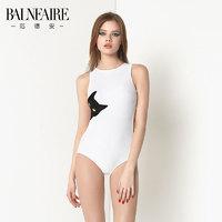 BALNEAIRE 范德安 MB01Y0010060742 时尚露背显瘦泳衣 (白色、S、锦纶 氨纶、三角连体泳衣)