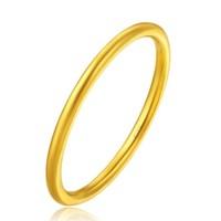 周大福(CHOW TAI FOOK)简约至上 婚嫁 足金黄金戒指 F217482 68 11号 约1.7克