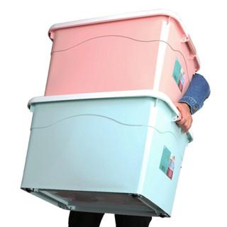 访客 FK 收纳箱170L大号整理箱汽车箱塑料玩具收纳盒家用衣服储物箱儿童箱子收纳盒(灰蓝色)
